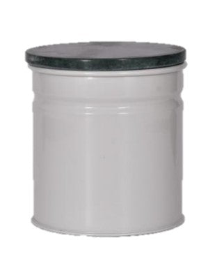 Round Canister in chalk & Dark marble lid