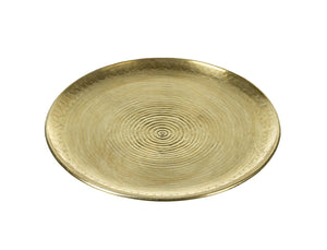 Gold Coloured Round Tray