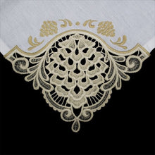 Load image into Gallery viewer, OESD Freestanding Lace Tablecloth and Napkin Corners 12788