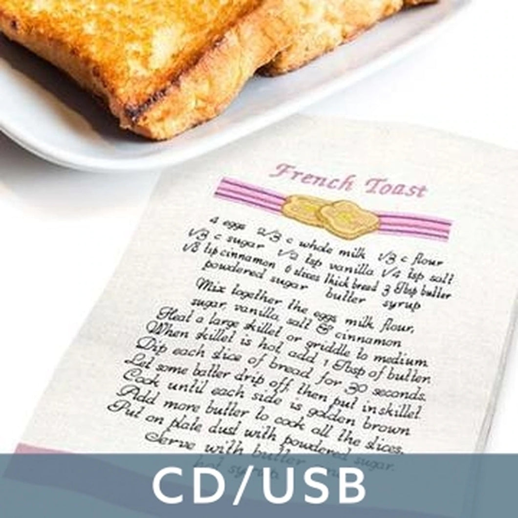 Breakfast Recipe Towels 12809 OESD Embroidery Design