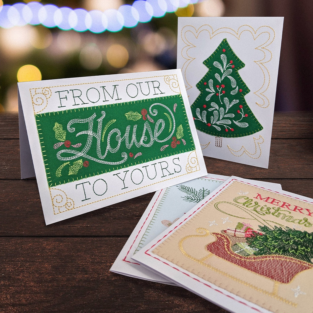 OESD Holly Jolly Greeting Cards 12834 Embroidery CD