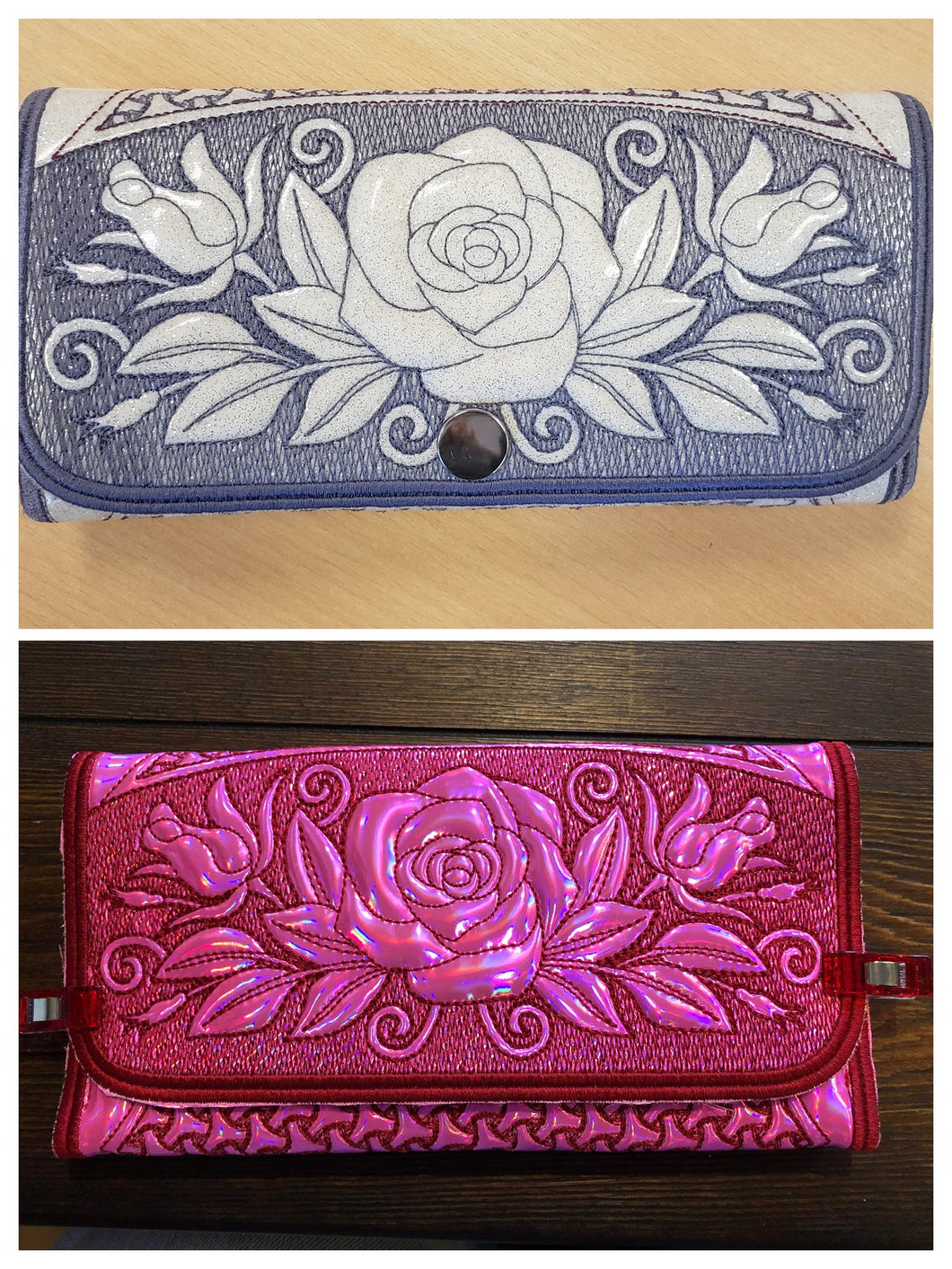 In-The-Hoop (ITH) Rose Wallet Class