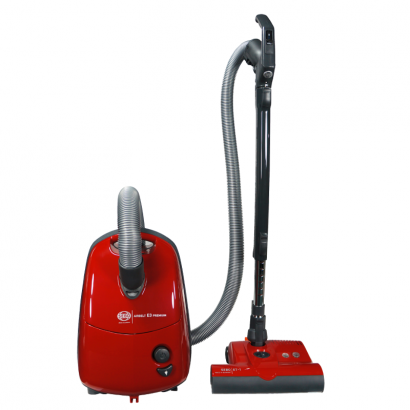 Sebo Airbelt E3 Premium with ET-1 Power Head and Parquet Brush Canister Vacuum - Red