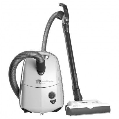 Sebo Airbelt E3 Premium with ET-1 Power Head and Parquet Brush Canister Vacuum - White