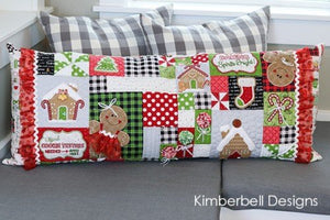 Kimberbell Ginger's Kitchen Bench Pillow Kit:  Includes EITHER SEWING or EMBROIDERY Pattern, Embellishment Kit and Fabric Kit