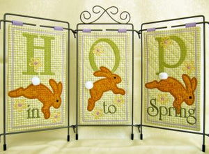 Janine Babich Hop Into Spring Table top display Design