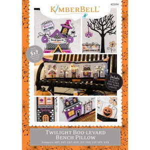 Kimberbell Twilight Boo-levard Bundle (Bench Pillow Fabric Kit, Machine Embroidery Designs and Embellishment Kit)