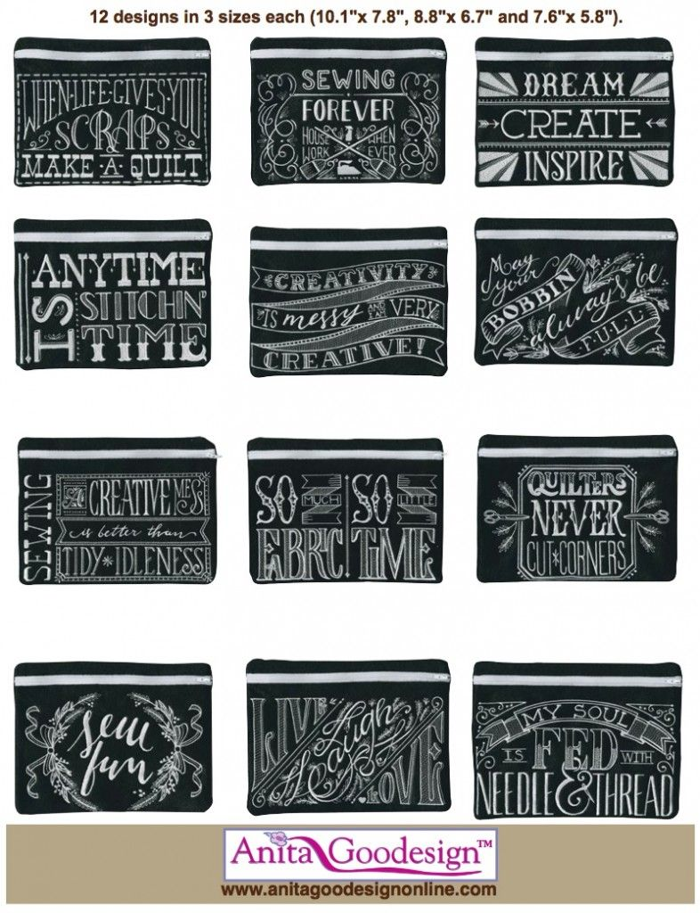 Anita Goodesign Blackboard Bags Project Collection