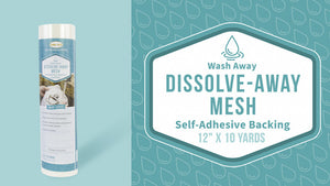 Dissolve Away Mesh Self-Adhesive Backing Stabilizer
