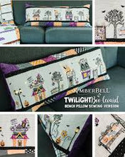 Load image into Gallery viewer, SOLD OUT! Kimberbell Twilight Boo-levard Bundle (Bench Pillow Fabric Kit, Machine Embroidery Designs and Embellishment Kit)