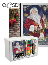 Load image into Gallery viewer, Enchanted Santa Tiling Scene Embroidery Design on USB with Thread Kit