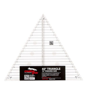 "Creative Grids 12"" Finished Size 60 Degree Triangle Ruler"