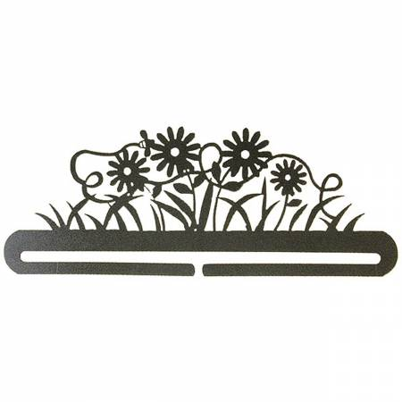 12in Daisy and Bee Split Bottom Charcoal Wall Hanger by Ackfeld