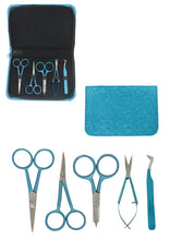 Load image into Gallery viewer, Colored Embroidery Kit & Zipper Pouch (Turquoise, Green or Black)