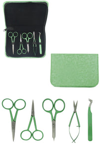 Colored Embroidery Kit & Zipper Pouch (Turquoise, Green or Black)