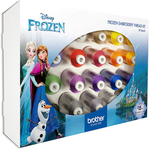 Brother Disney Frozen Embroidery Thread Kit (24 Pack)