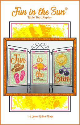 Janine Babich Designs Fun In The Sun Table Top Display pattern