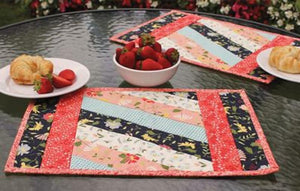 Quilt as You Go Placemat - Pre-Printed Batting set of 6
