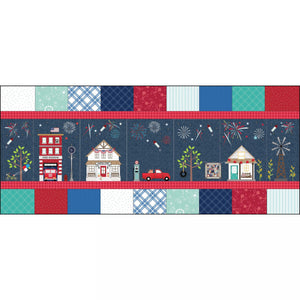 PREORDER Kimberbell Main Street Celebration Bench Pillow Kit - Fabric Only KIT-MASMSC