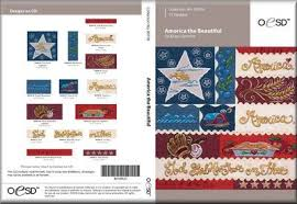OESD America the Beautiful Embroidery Design 80109CD