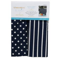Load image into Gallery viewer, Kimberbell Dots & Stripes Tea Towel Set