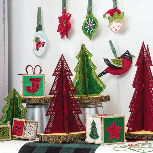 12835 OESD Freestanding Holly Jolly 2020 Ornaments