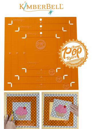 Orange Pop Rulers Square Set  # KDTL101