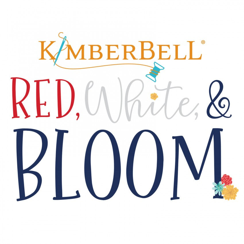 PREORDER Kimberbell Red White & Bloom Embellishment Kit KIDKB1242