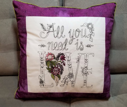Serger Pillow Cover with Zipper and Piping