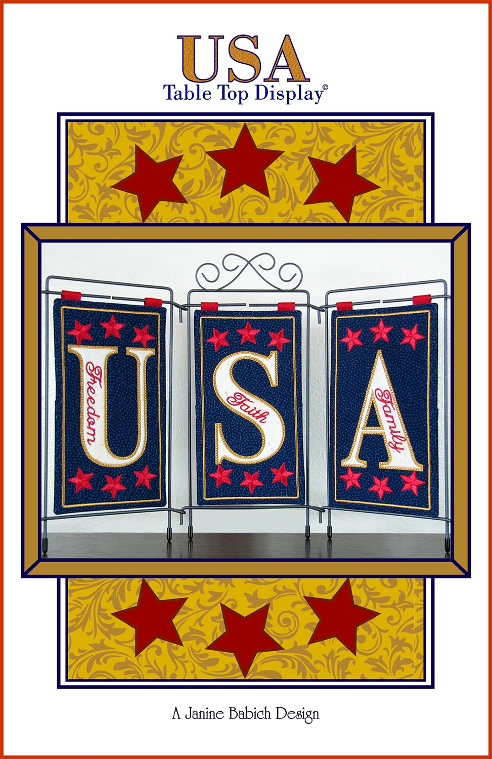 Janine Babich USA Table Top Display Embroidery Design  JBDUSA