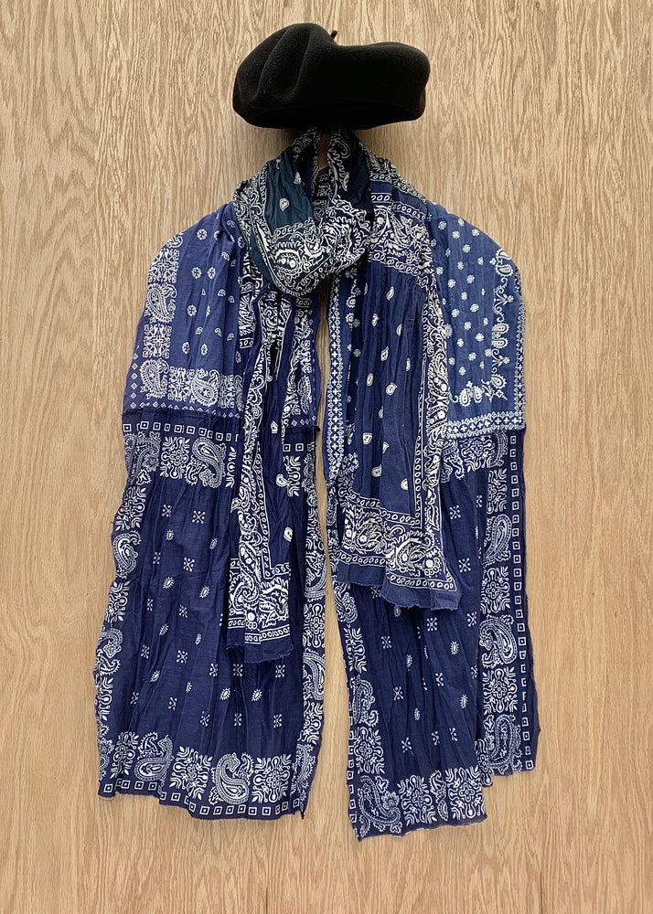 RTH PEACED UPCYCLED BANDANA SCARF- Navy