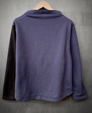 RTH BOATNECK - WASHED FLEECE - COTTON - COLOR BLOCK (black front)