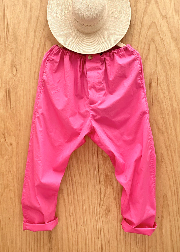 RTH SLOUCH DRAWSTRING PANTS - DHALIA PINK