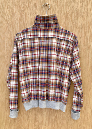 RTH WAISTED POPOVER - PLAID/RED
