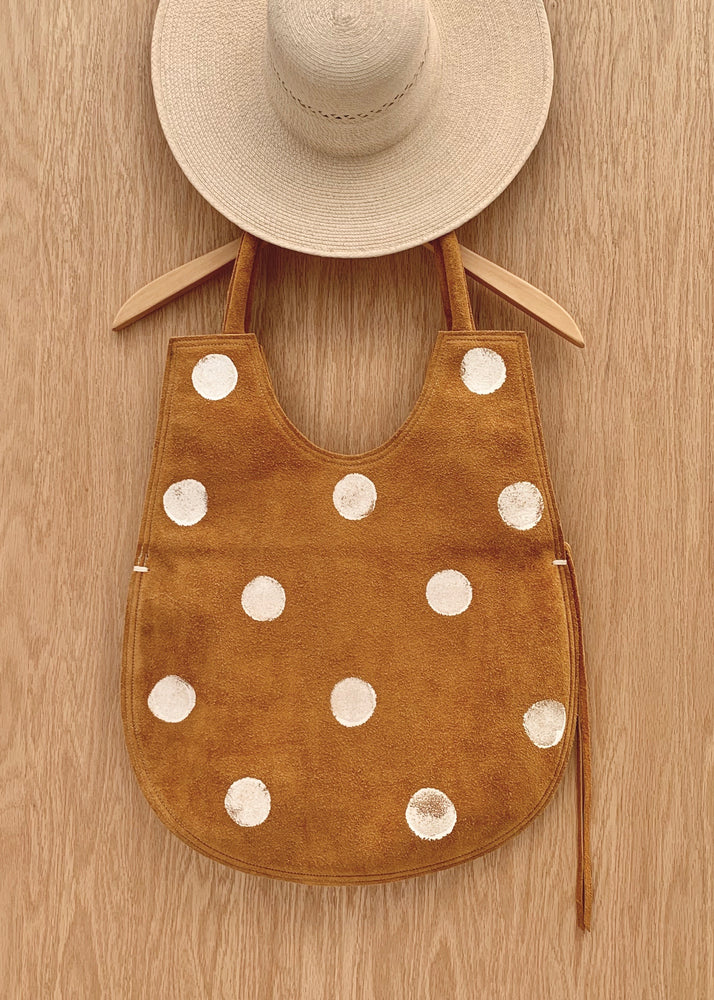 RTH EGG BAG - NATURAL ROUGHOUT w/ DOTS