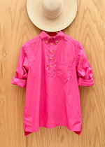 RTH POPOVER SHIRT - DHALIA PINK