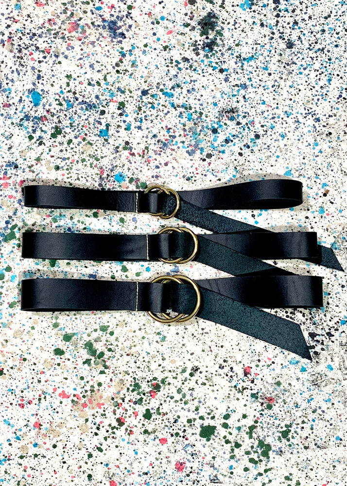 RTH O-RING BELT - LATIGO COWHIDE - BLACK