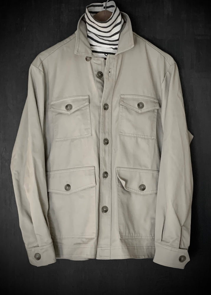 RTH 4 POCKET SHIRT JACKET - KHAKI TWILL