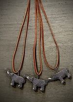 Found Hand Beaded Creatures-Elefante- Gray