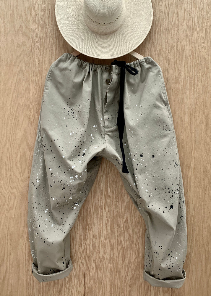 RTH DRAWSTING PANTS - KHAKI SPLATTER