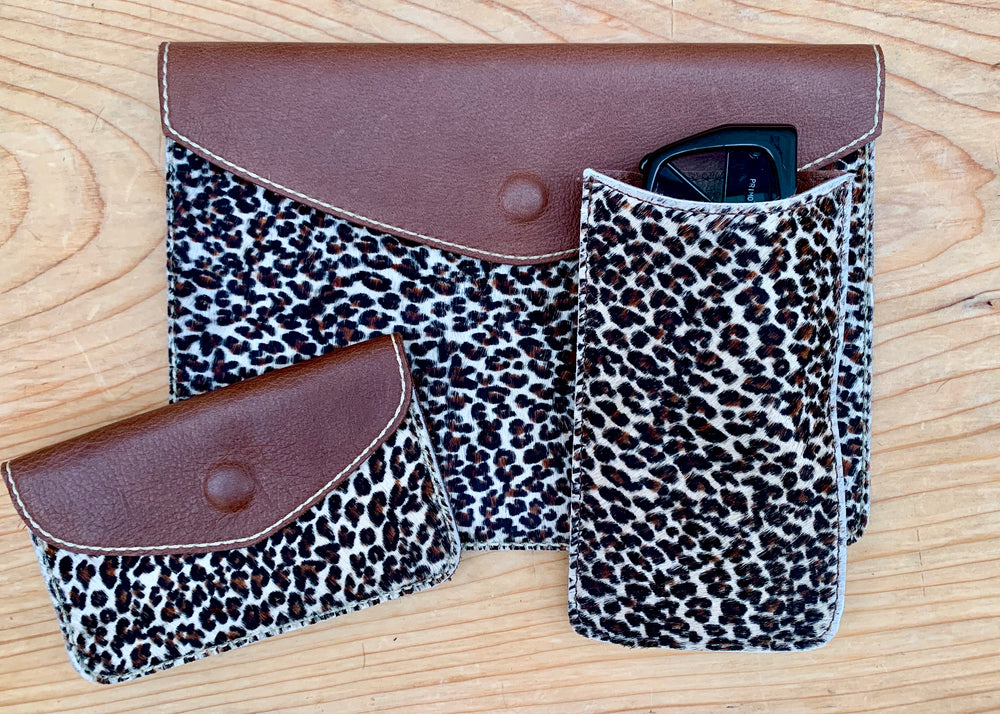 RTH SNAP POUCH - MINI LEOPARD
