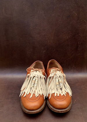 RTH (ooak)SHOE KILTIES - SAND - regular/beaded