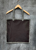 RTH SIMPLE TOTE - BLACK NYLON w/SLATE ROUGHOUT TRIM