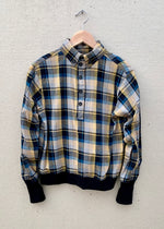 RTH WAISTED POPOVER SHIRT- MUSTARD PLAID