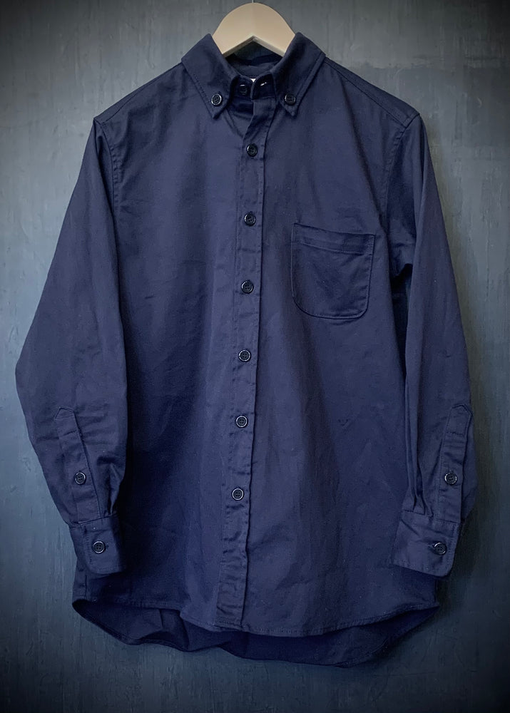 RTH CLASSIC SHIRT - WASHED COTTON TWILL- Navy