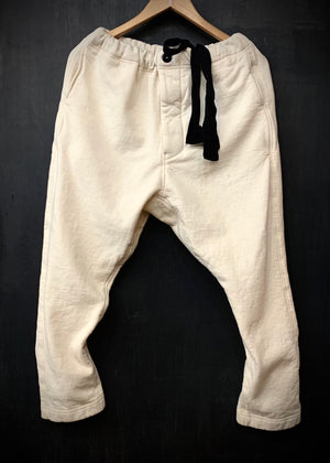 RTH DRAWSTRING PANTS - WASHED FLEECE - COTTON - NATURAL