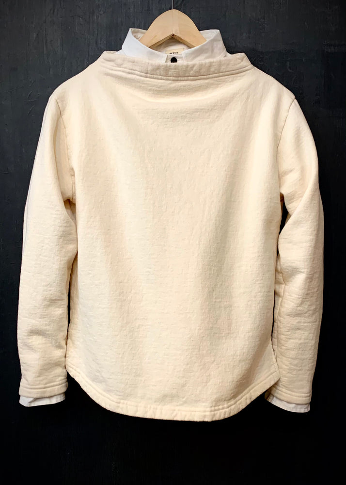 RTH BOATNECK  - WASHED FLEECE - COTTON - NATURAL