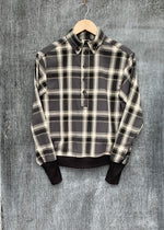 RTH WAISTED POPOVER - PLAID/CHARCOAL