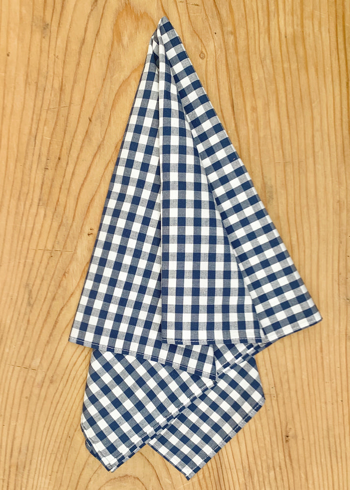 RTH FACE MASK ( non medical) / RTH KERCHIEF- blue & white gingham
