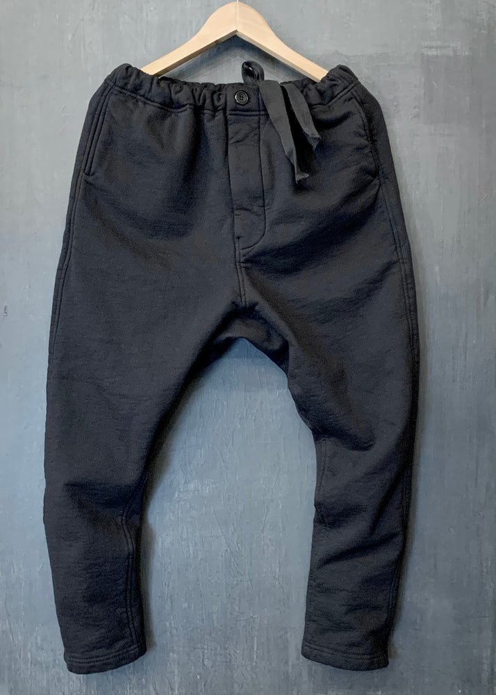 RTH DRAWSTRING PANTS - WASHED FLEECE - COTTON - BLACK